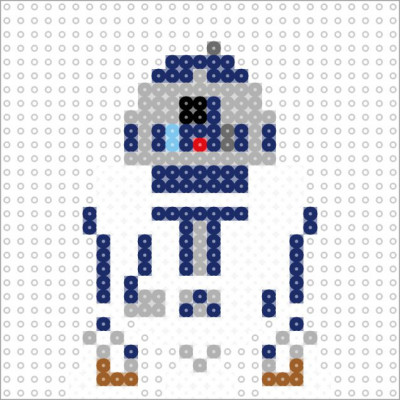 R2-D2 v3 (small - 1 panel) by datteber