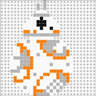 BB-8 - v2  (small - 1 panel) by datteber