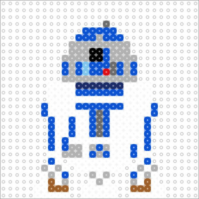 R2-D2 v2 (small - 1 panel) by datteber
